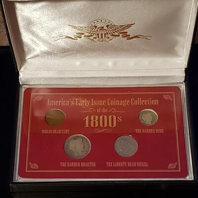 1800,,s  Silver US coin set .Nice set rare 1800,s silver us coins