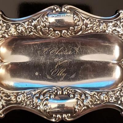 Antique  Sterling silver tray 54.2 g