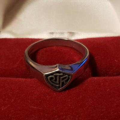 925 silver ring Men's ring size 10