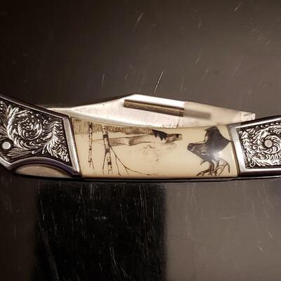 Well made strong bone handel .New bone handel well made collector knife
