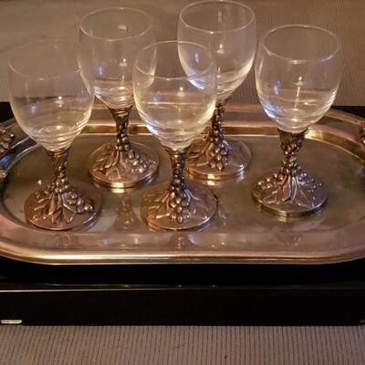 Beautiful Danco silver & glass set
