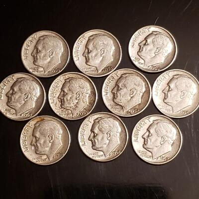 Lot of silver rosie dimes