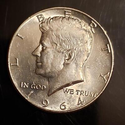 BU 1964 silver  half dollar