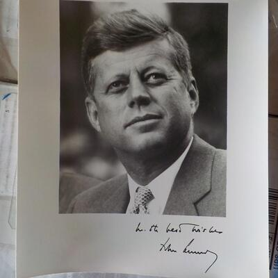 1962 Signed auto pen and photo.