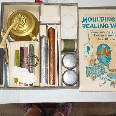 1930's Moulding with Sealing Wax Kit.
