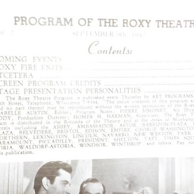 1942 Issue of Roxy Theater of General MacArthur