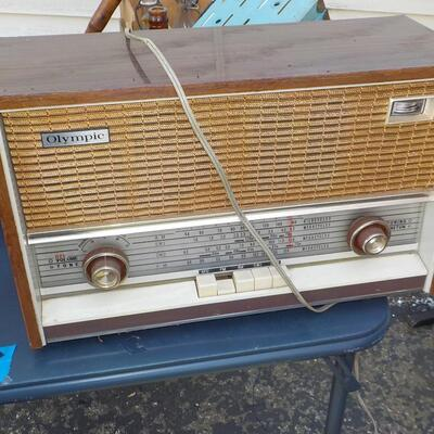 1950's Olympic 12 transistor table radio.