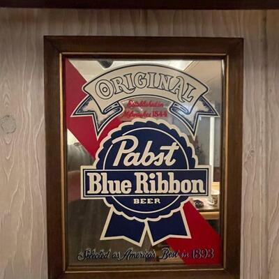 Pabst Blue Ribbon Beer Mirror