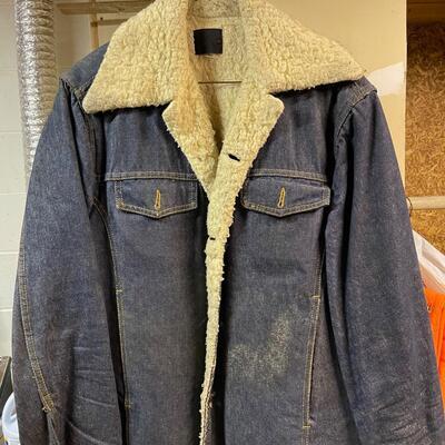 Vintage Jean / fleece jacket