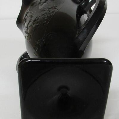 Black Amethyst LE Smith Glass Vase Dancing Nudes