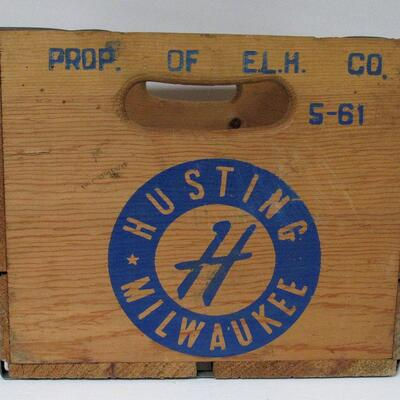 Nice Vintage Hustings Beverage Wood Box, MIlwaukee