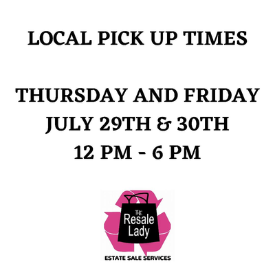 CLICK HERE FOR INFO ON LOCAL PICK UP