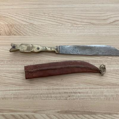 Carved Mayan Native Knife