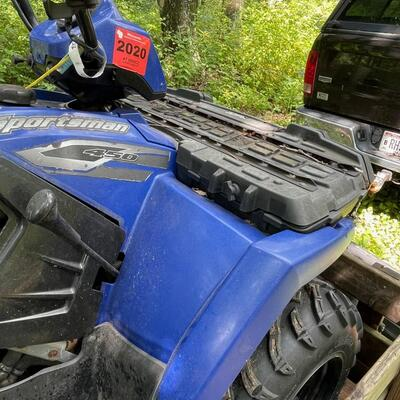 2005 Polaris Sportsman 450 CC ATV with Trailer