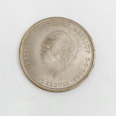 1968 DENMARK 10 SILVER KROMER