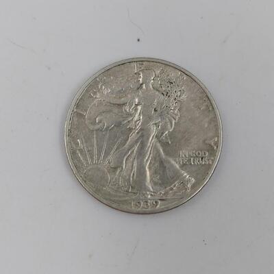 1939 WALKING LIBERTY SILVER COIN