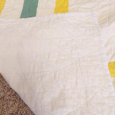 BEAUTIFUL HAND STICHED MULTI COLORED QUILT