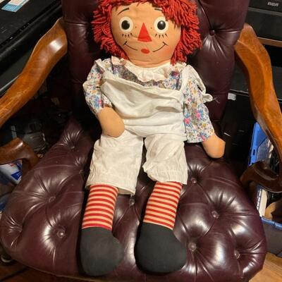 Vintage raggedy and doll