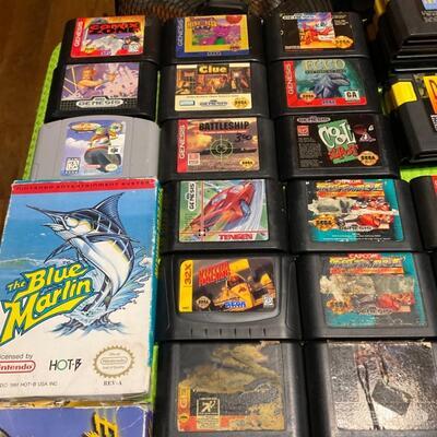 Huge lot of 77 vintage games Sega Genesis n64 & nes