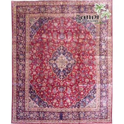 Traditional Red Wool Persian Rug 12'8