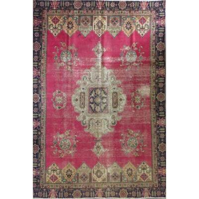 Persian tabriz Vintage Rug 12'4