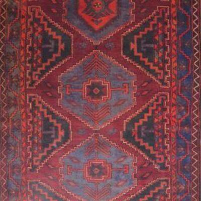 Persian hamedan Vintage Rug 12'6