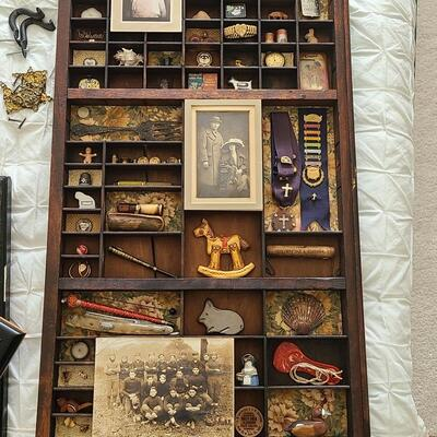 Lot 34: Antique Collectibles in Typeset Drawer