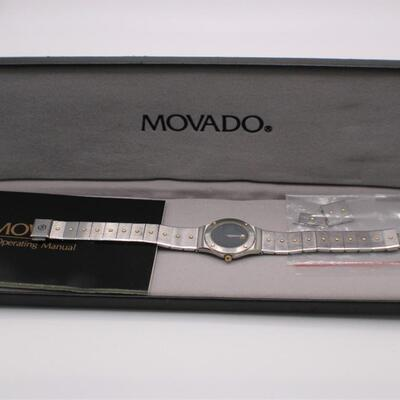 LOT#C7: Ladies Two-Tone Movado Watch