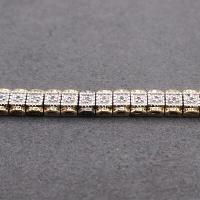 LOT#C10: Marked .925 Sterling Thai Bracelet [15.77g]