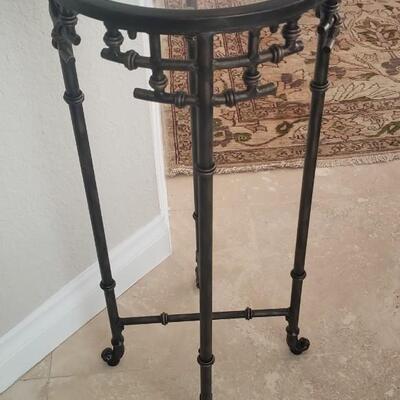 Brown Metal Pedestal Stand
