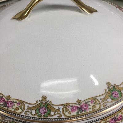 Partial Set of WH Grindley & Co Vintage Floral Rimmed China England