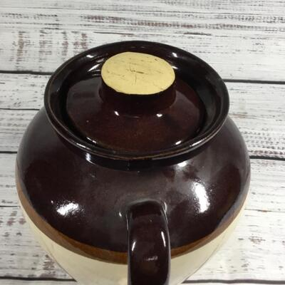 Ceramic Brown and Tan pottery jug Roseville USA