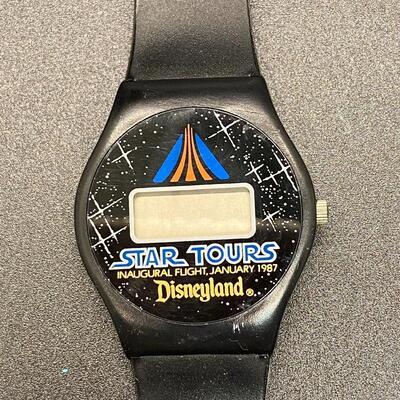 Vintage Retro 1987 Disneyland Star Tours Digital Watch