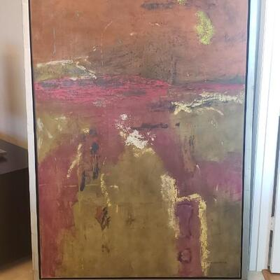John Baughman Painting on Brush Steel Frame