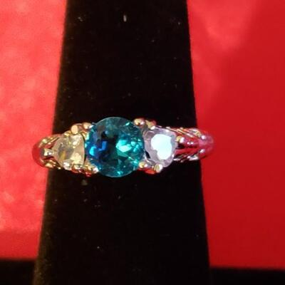 Sterling silver  tanzinite  ring size  7