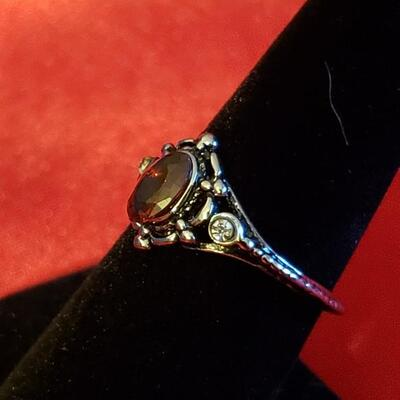 Sterling silver ring natural gemstone size 7