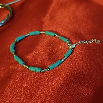 Vintage Sterling silver Native urquoise  bracelet 10.3 g