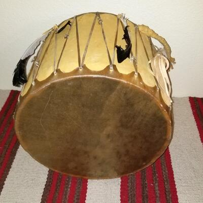 Rawhide and leather Ceremonial Drum