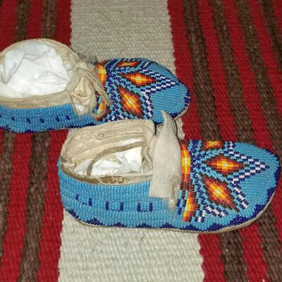Beaded children's Indian Moccasins: