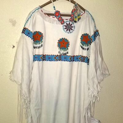 Native American Beaded leather dress