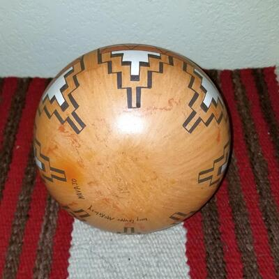 Native American Pot - Lucy McKelvey pottery vase - Signed