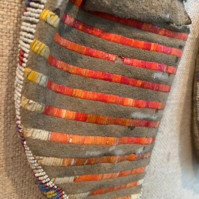 Native American Beaded/Quilled Moccasins - circa 1885