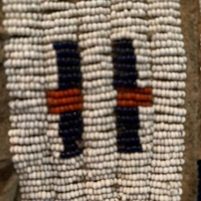 Native American Beaded Pow Wow Leggings from Sitting Bull - circa 1885