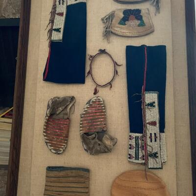 Native American Hand Woven Tobacco Pouch from Sitting Bull - circa 1885