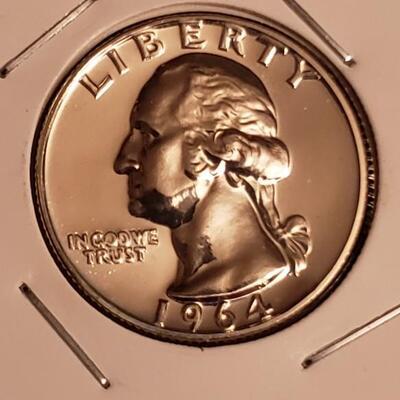 Super Rare 1964 Proof  mint silver set .Please see description and photos