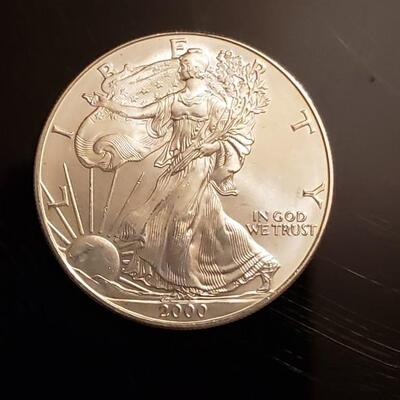 BU 2000 American silver eagle silver