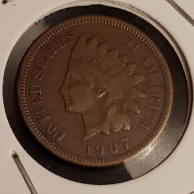 1907  V G indian head cent
