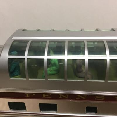 AristoCraft G scale Pennsylvania Delaware & Manhattan Transfer dome-liner passenger coach Train Cars