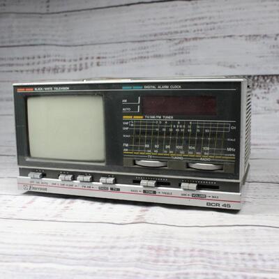 Vintage Emerson Black & White Television Digital Alarm Clock Radio