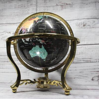 Faux Stone Table Top Globe